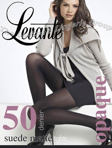 Levante 100 Denier Plain Wool Stockings Mocca Tall